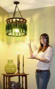 Wine Bottle Light Fixtures Pottery Barn Wine Bottle Chandelier Project By Brandon And Caitlin