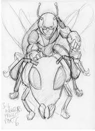 ant man sketch by scarecrowhassan on deviantart