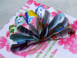flower bow recycling paper paper flower bow craft ideas