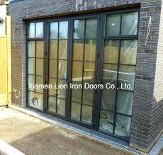 Glass Bifold Doors Exterior Glass Bifold Doors Metal Glass Door Modern Steel Iron Doors