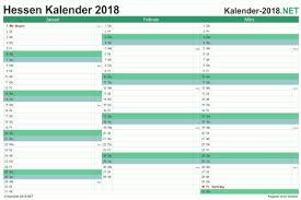 Kalender 2018 Hessen Ausdrucken Kalender 2018 Hessen
