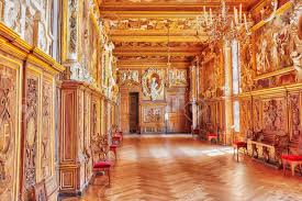 palace interiors fontainebleau france july 09 2016 fontainebleau palace stock