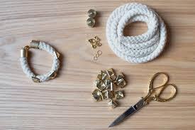 make bracelet from rope images Diy studded rope bracelet a pair a spare jpg