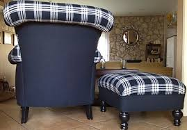 Alan White Loveseat Nice Overstuffed Wingback Chair With Furniture Living Room