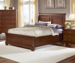 Mission Style Bedroom Furniture Cherry Vaughan Bassett Furniture Bed Buy Reflections Cherry Sleigh
