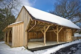 hugh lofting timber framing carriage shed