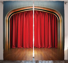 Stage Curtain Track Hardware by Amazon Com Stage Curtains For Bedroom Drapes For Living Room Home