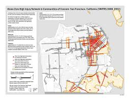 San Francisco Red Light District Map by Policy Vision Zero Sf Transform
