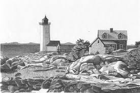 lighthouse point pencil sketch