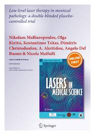 low level laser therapy in meniscal pathology a double blinded