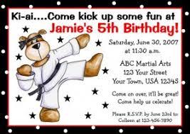karate taekwondo invitations personalized party custom birthday