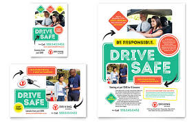 drive brochure template driving school flyer ad template design