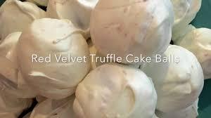red velvet truffle cake balls youtube