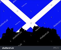 edinburgh castle scottish flag stock vector 1498428 shutterstock