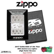 American Flag Zippo Zippo 85th Anniversary Lighter High Polish Chrome Collectible