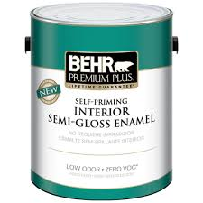 interior paint colors home depot behr premium plus 1 gal white semi gloss enamel zero voc interior