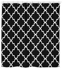 Neutral Shower Curtain Neutral Black And White Geometric Pattern Shower Curtain