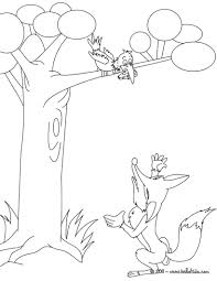 the raven and the fox coloring pages hellokids com
