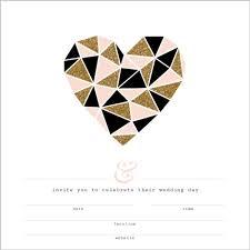 blank wedding invitations modern geometric glitz fill in the blank wedding invitation