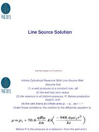 line source solution permeability earth sciences petroleum
