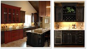 Painting Kitchen Cabinets Red by Kitchen Distressed Black Cabinets How To Cabinet Knobs Uotsh