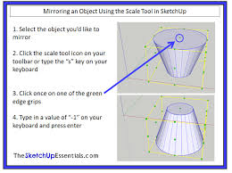 modifying 3d shapes in sketchup using the scale tool the
