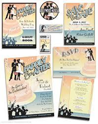 hollywood musical wedding invitations vintage wedding
