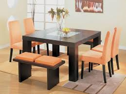 Kitchen Room  Design The Dining Table Seats  Bench Tennsat - Square kitchen table with bench