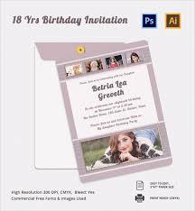 18th invitation templates 28 images 18th birthday invitation