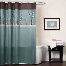 Aqua Blue Shower Curtains Marvelous Brown And Light Blue Shower Curtain U Design Pict Of