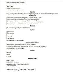 Theatrical Resume Theatre Resume Template Word Download Acting Resume Template Pdf
