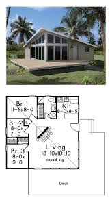 coastal house plan 95996 total living area 784 sq ft 3