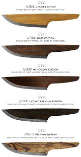 Carbon Steel Kitchen Knives by Skid Is The First Wooden Chef Knife Released From Lignum On