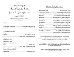 wedding party program template what to include in your wedding program