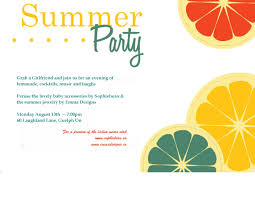 Party Invite Cards Card Template Summer Party Invitation Template Card Invitation