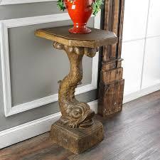 vintage pedestal side table unique accent tables mike ferner