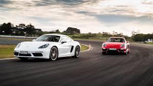 porsche boxter vs cayman porsche 718 cayman s vs cayman gts nz comparison test 2017