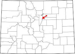 Political Map Of Colorado by File Map Of Colorado Highlighting Denver County Svg Wikimedia