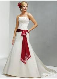 satin red waistband white african wedding dress cheap