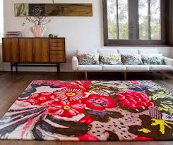 Modern Floral Rug Attractive Design Of The Interior Living Room Design Ideas With