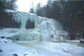 Frozen waterfalls in maryland
