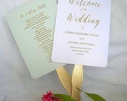 wedding program fan sticks wedding program fan etsy