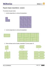 Symmetrical Shapes Worksheets Regular Shapes Tessellations