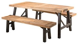 Rustic Patio Furniture Sets by Valverde 3 Piece Outdoor Picnic Set Rustic Outdoor Dining Sets