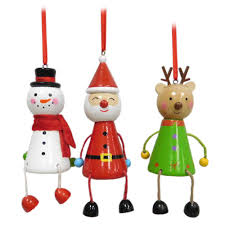 nicholas square santa friends ornaments 3 set