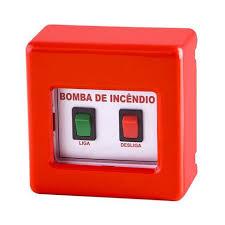 Common Acionador botoeira de bomba de incêndio convencional - Tecno Fire @AG89