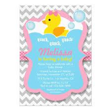 duck baby shower invitations quack rubber ducky girl baby shower invitation zazzle