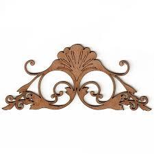 deco nouveau style ornament 6 mdf wood shape