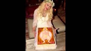 christina aguilera gives birth on this baby shower cake youtube