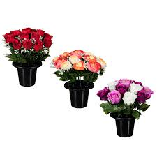 artificial flowers floral grave pots 25cm artificial flowers plants